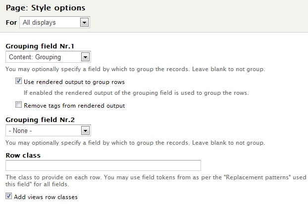 Group Views results even if you are using display modes